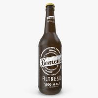 Detailed Bomonti Beer Bottle