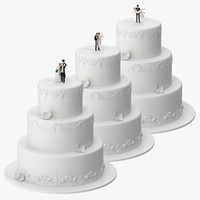 Round Wedding Cake With Miniatures Collection