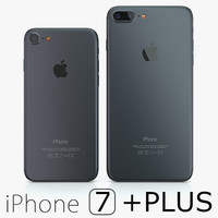 iPhone 7 + iPhone 7 Plus Black Matte