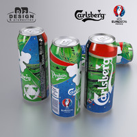 Beer can Carlsberg Euro 2016 edition