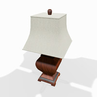 Wooden tabletop lamp
