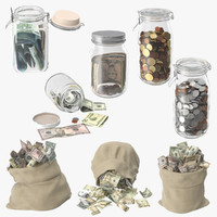 Money Bags and Jars Collection