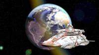3d sci-fi battleship