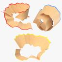 pencil shaving 3D models