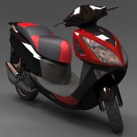 scooter irbis lx 3d obj