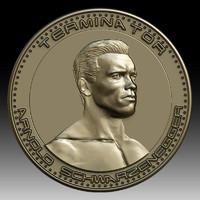 3D printing model Arnold Schwarzenegger medalion coin