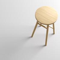 john lewis stool 3d model