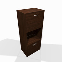 Modern wooden living room shelf