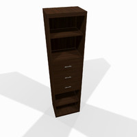 Narrow wooden shelf