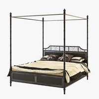 Lexington Tommy bahama island estate west indies bed king black