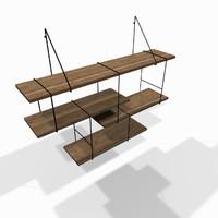 Designer wooden wall shelf