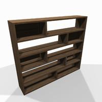 Wide wooden shelf