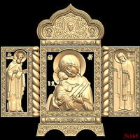 (165) 3d STL Model Religion Icon for CNC Router 3D Printer Aspire Cut3d Artcam