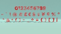 alphabet numbers  signs splines