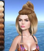 Molly Female Mesh Hair DAE + OBJ