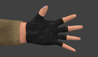 Low poly Hand for mobile pc games