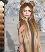 Charming Mesh Hair OBJ DAE