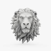 lion head sculpture 01