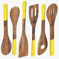 Dark Wood Utensil Set