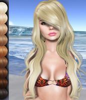 Rachel Mesh Hair DAE OBJ