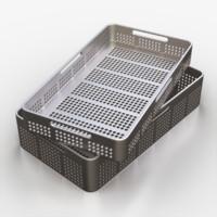 3d model medical tool tray