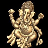 (10) 3d STL Model Lord Ganesha for CNC Router 3D Printer Aspire Cut3d Artcam