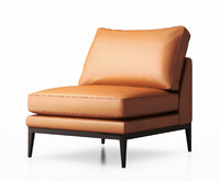 Sabrina armless arm chair by Zuster