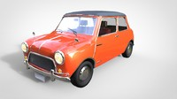 Low poly Mini car