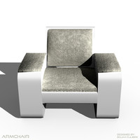 Modern Armchair, Bed, Bench, Sofa and Table Set