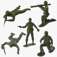 5 Plastic Toy Soldiers