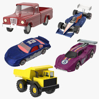 Toy Racecars and Trucks