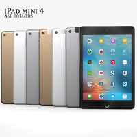 3d model of ipad mini 4
