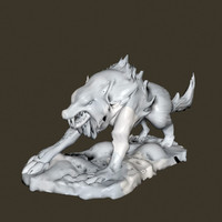 3d model wolf sculpture