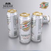Beer can San Miguel 2016
