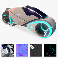 3d sci-fi vehicle