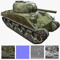 3d m4 sherman tank