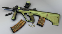 Steyr AUG Rifle with Accessories