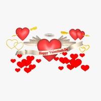 3d c4d hearts set valentine s