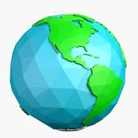 cartoon earth 3d max