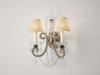 Ralph Lauren Adrianna double sconce in antique silverleaf RL2231ASL-S