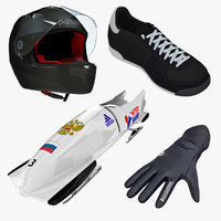 bobsled 2 places equipment 3d ma