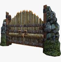 old gates 3d model