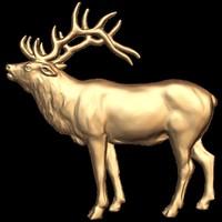 (211) Deer - 3d STL model for CNC