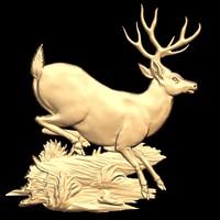 (212) Deer - 3d STL model for CNC
