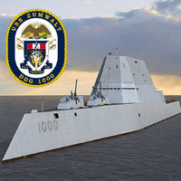 US NAVY USS Zumwalt DDG-1000 destroyer