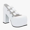 high heel sneakers 3D models