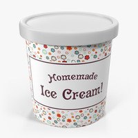 Ice Cream Pint Container
