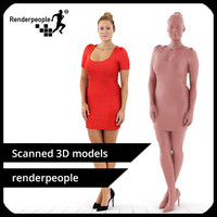 free photorealistic human rosy 0095 3d model