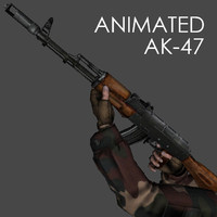 3ds max hand ak-47 animations -