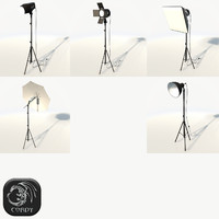 Photo studio lamps x5 package